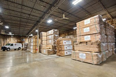 warehouse of a flooring store