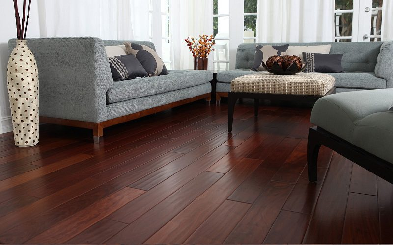 solid dark wood floor